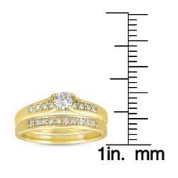 10k Yellow Gold 1/2ct TDW Diamond Bridal Ring Set (G-I, I1-I2)
