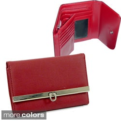 Dasein Leather-like Flip-Clasp Wallet