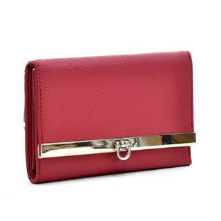 Dasein Leather-like Flip-Clasp Wallet
