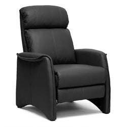 'Aberfeld' Black Reclining Club Chair