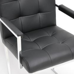 'Collins' Black Mid-Century Accent Chair