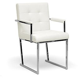 'Collins' Ivory Mid-Century Accent Chair