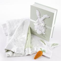 Baby Aspen 'Bunnies in the Garden' Luxurious 3-piece Blanket Gift Set
