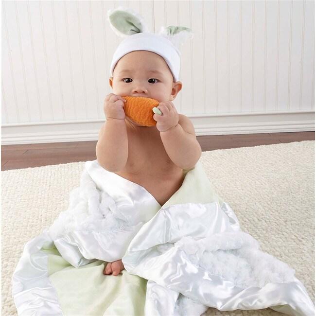 Baby Aspen 'Bunnies in the Garden' Luxurious 3-piece Blanket Gift Set