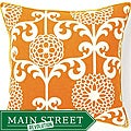 Floret Orange Cotton Decorative Pillow