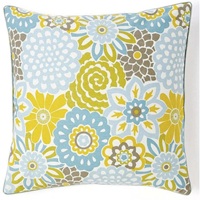 Bloom Sky 20x20-inch Cotton Decorative Pillow