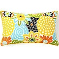 Jiti Bloom Confetti 12 x 20-inch Cotton Decorative Down Pillow