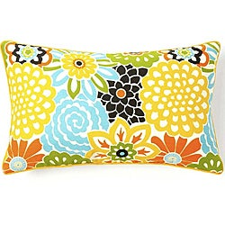 Jiti Pillows Bloom Confetti 12 x 20-inch Cotton Decorative Down Pillow
