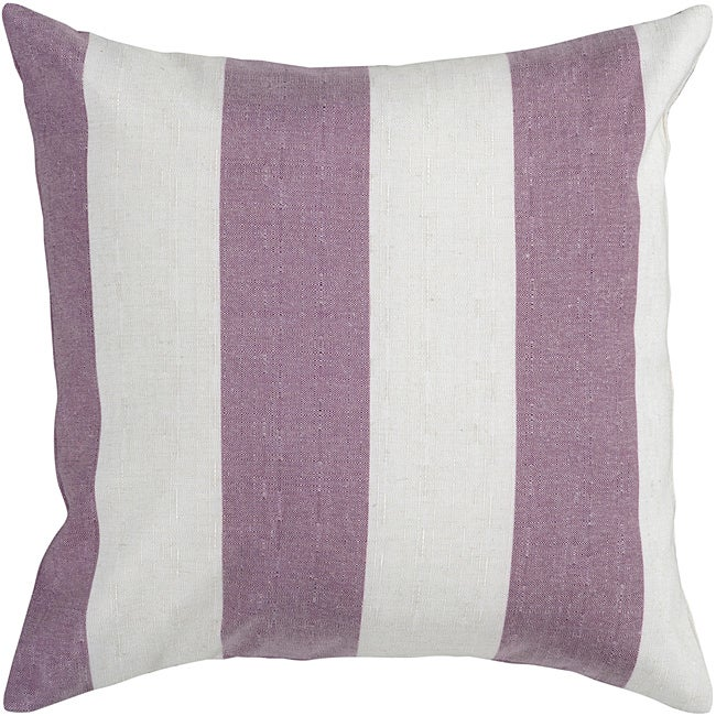 Lavendar Stripe Down-Filled Decorative Pillow