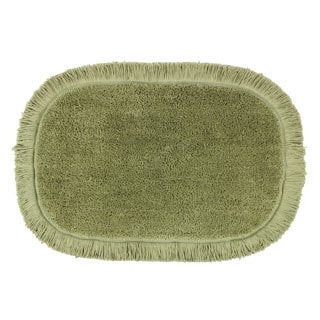 Sherry Kline Sage Green Fringed 20 x 30 Bath Rug (Set of 2)