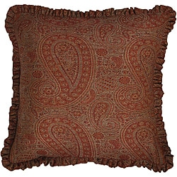 Wool 'Jamawar' Paisley Throw Pillow