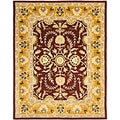 Handmade Heritage Treasures Oriental Red/ Gold Wool Rug (5' x 8')