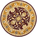 Handmade Heritage Treasures Red/ Gold Wool Rug (6' Round)