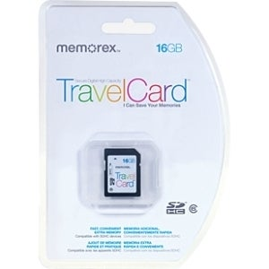 Memorex TravelCard 16 GB Secure Digital High Capacity (SDHC)