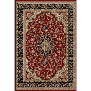 'Medallion Kashan' Red Area Rug (5'3 x 7'3)