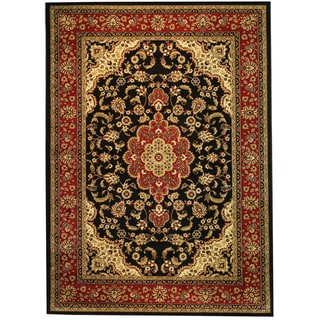 'Medallion Kashan' Black Area Rug (7'10 x 9'10)