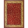 Rosa's Bouqet Red Area Rug (7'10 x 9'10)