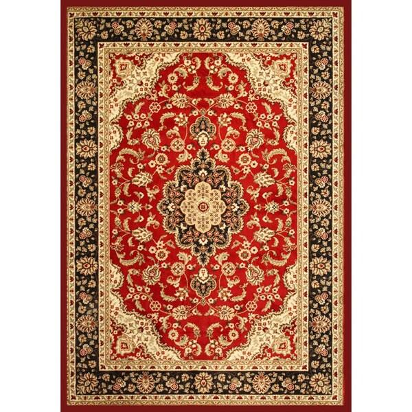 'Medallion Kashan' Red Area Rug (7'10 x 9'10)