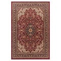 'Medallion Kashan' Red Area Rug (7'10 x 9'10)