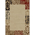 'Vane Willow' Beige Damask Area Rug (5'3 x 7'3)