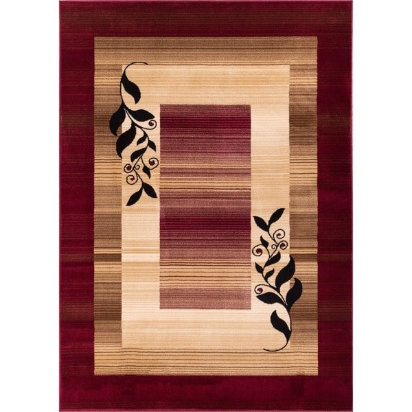 'Molly' Red Area Rug (7'10 x 9'10)