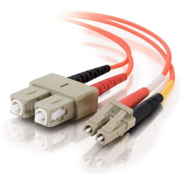 20m LC-SC 62.5/125 OM1 Duplex Multimode Fiber Optic Cable (Plenum-Rat