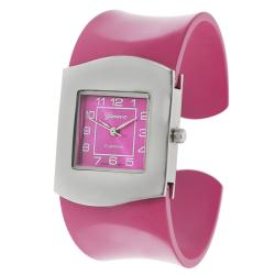 Geneva Platinum Women's Colored Band Cuff Watch