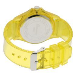 Geneva Platinum Women's Yellow Translucent Watch