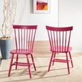 Safavieh Country Lifestyle Spindle Back Raspberry Dining Chair (Set of 2)