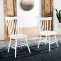 Country Lifestyle Spindle Back White Dining Chair (Set of 2)