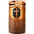 Star Legacy's Infinity Bronze Finish with Cross Large/ Adult Urn