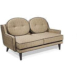 Modern Cumin Fabric Loveseat