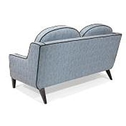 Modern Blue Fabric Loveseat