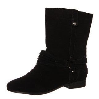 Sam & Libby Women's 'Fabulist' Black Leather Boots FINAL SALE