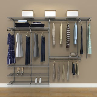 Organized Living freedomRail 8-foot Nickel Ventilated Closet Kit
