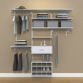 Organized Living freedomRail 6-foot White Wood Closet Kit