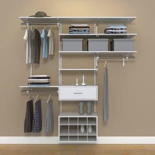 Organized Living freedomRail 6-foot White Wood Closet Kit