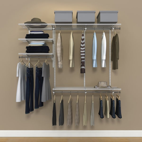 Organized Living FreedomRail 6-Foot White Ventilated Closet Kit