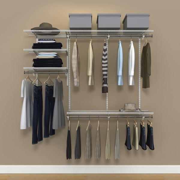 Organized Living FreedomRail 6-Foot White Ventilated Closet Kit