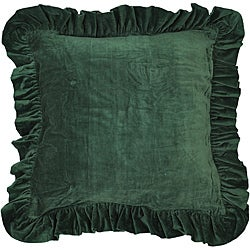 Cottage Home Green Cotton Velvet Euro Pillow Sham
