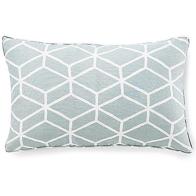 Bethe Tile Aqua 12x20-inch Linen Decorative Pillow