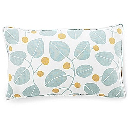 Jiti Pillows Bethe Leaves Aqua 12x20-inch Decorative Down Pillow