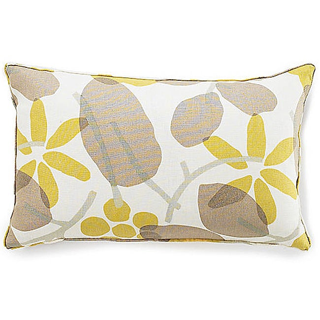 Jiti Bethe Leaves Light Brown 12x20-inch Decorative Down Pillow