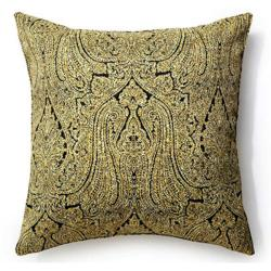 Ebony Paisley Pillow