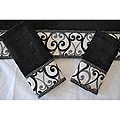 Sherry Kline 'Abingdon Black' Velour 3-piece Decorative Towels