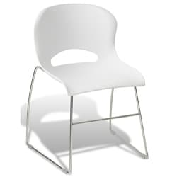 Jesper Office White Conference and Stacking Chair