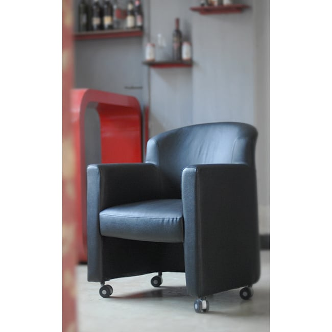 Jesper Office Black Leather Club Chair
