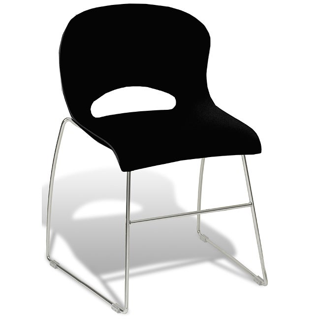 Jesper Office Black Conference and Stacking Chair