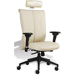 J & K Sand Executive Highback Leather Office Chair
