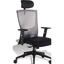 J & K Grey Mesh Ergonomic Highback Office Chair